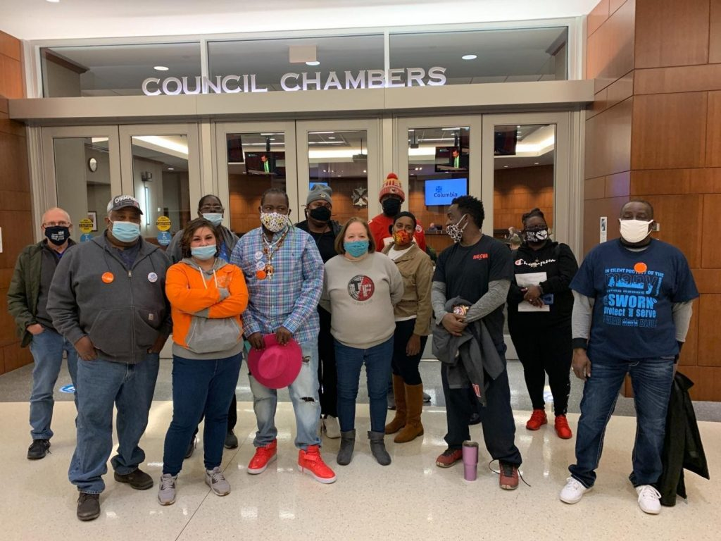 Group at Council Chambers for Racial Justice